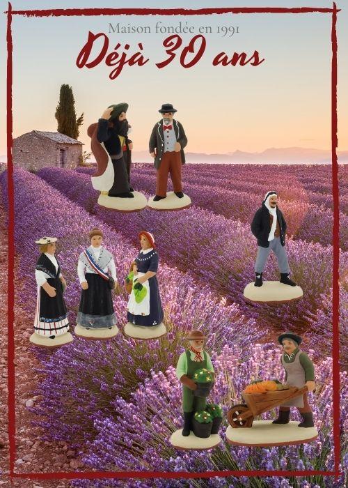 Nouveaux santons de Provence 2021 - Le Moulin à Huile
